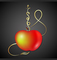 hookah apple fruit vector image vector image