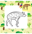 hyena coloring page vector image
