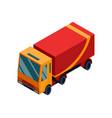 isometric logistics transportation isometric vector image vector image