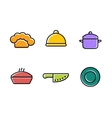 kitchen restaurant and culinary icons vector image vector image