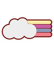 line color cloud with nature rainbow design in the vector image vector image