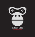 monkey game logo vector image vector image