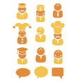 People occupation icons set vector image