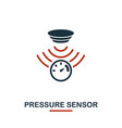 pressure sensor icon from sensors icons collection vector image vector image