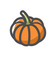 pumpkin gourd vegetable icon cartoon vector image