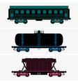 Railroad cars vector image vector image