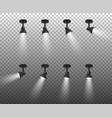 realistic 3d black spotlights set in vector image vector image