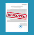 rejected paper document vector image