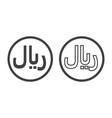 rial currensy sign symbol saudi monetary unit vector image vector image