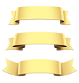 ribbon set gold vector image
