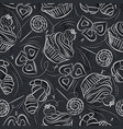 seamless patterns with cupcake croissant vector image vector image