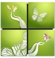 Set of backgrounds with butterflies vector image