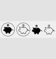 set of piggy bank icon vector image