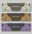 set of wedding banners vector image vector image