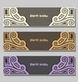 set wedding banners vector image vector image