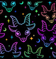 simless multicolored goat heads vector image