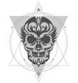 skull geometric art composition vector image