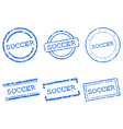 Soccer stamps vector image vector image