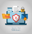 spectre and meltdown computer cyber attack vector image vector image