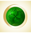st patricks day button vector image vector image