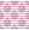 striped seamless pattern with pomegranates vector image