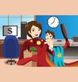 superhero mom concept vector image vector image