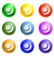 sweet candy icons set vector image vector image