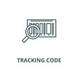 tracking code line icon linear concept vector image