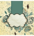 Vintage flower paper background EPS 8 vector image vector image