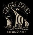 warship vikings drakkar viking design vector image vector image