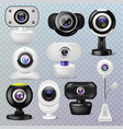 web camera webcam digital technology vector image