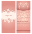Wedding invitation flowers ornament vector image vector image