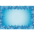 Winter decorative frame vector image vector image