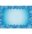 Winter decorative frame vector image