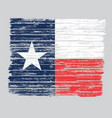 wooden grunge texas flag vector image