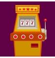 Slot machine with jack pot vector image