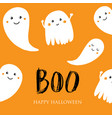 cute halloween invitation or greeting card vector image