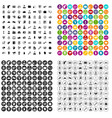 100 business partner icons set variant vector image vector image