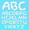 a set of english alphabet cloud font vector image