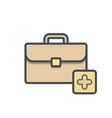 add bag briefcase business portfolio vector image vector image