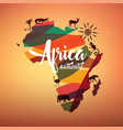 africa travel map decrative symbol of africa vector image vector image