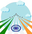 Air show for celebrate the national day of India vector image