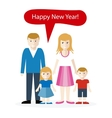 Americans or English Congratulation Happy New Year vector image