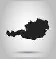 austria map black icon on white background vector image vector image