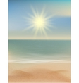 Beach and tropical sea with bright sun EPS 10 vector image vector image