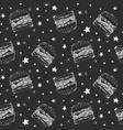 black and white pattern with sketchy burgers vector image vector image