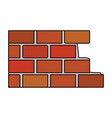 brick wall flat icon colorful silhouette vector image
