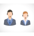 Call center support personnel staff icons vector image