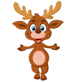 cartoon deer presenting vector image vector image