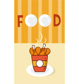 chicken thighs in box menu cover vector image